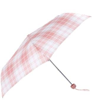 Women's Barbour Portree Umbrella - Mist Tartan