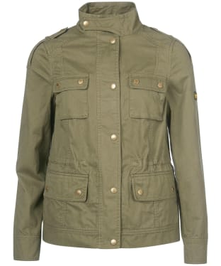 Women's Barbour International Throttle Casual Jacket - Lt Army Green