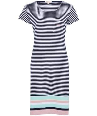 Women's Barbour Harewood Stripe Dress - New Navy