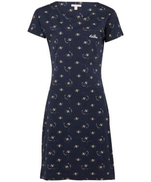 Women's Barbour Harewood Print Dress - Navy Bee Print