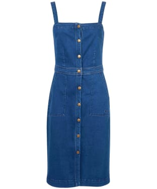 Women's Barbour Darcie Denim Pinafore Dress - Authentic Wash