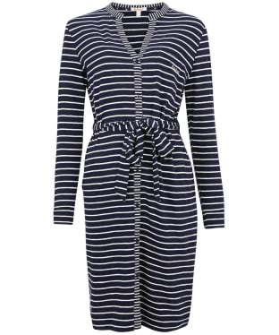 Women's Barbour Auklet Stripe Dress - Navy Stripe