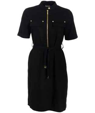 Women's Barbour International Drifting S/S Dress - Black