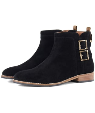 Women's Barbour Cornbury Boots - Black Suede
