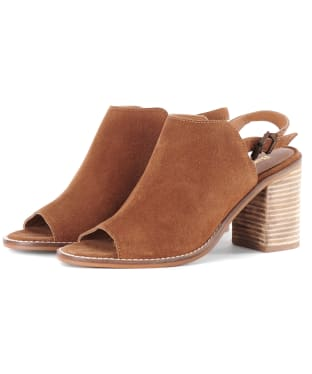 Women's Barbour Scarlett Sandals - Cognac Suede