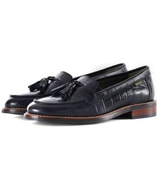 Women's Barbour Branham Loafers - Black Croc
