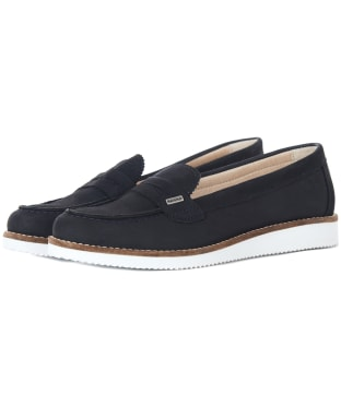 Women's Barbour Freda Loafers - Navy Nubuck