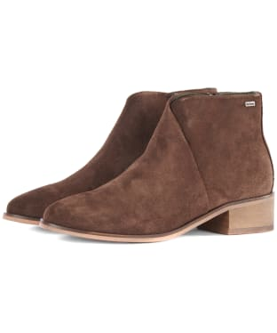Women's Barbour Caryn Boots - Chocolate Suede