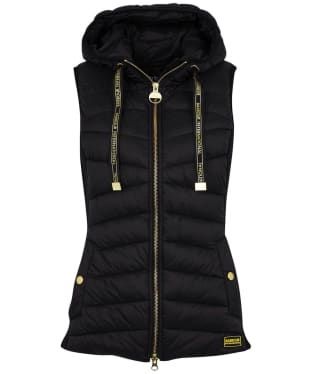 Women's Barbour International Grid Gilet - Black
