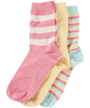 Women's Barbour Coastal Stripe Sock Set - Mixed