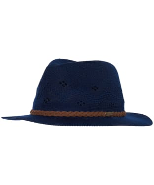 Women's Barbour Flowerdale Trilby Hat - Navy