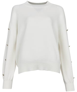 Women's Barbour International Drifting Knit - Off White