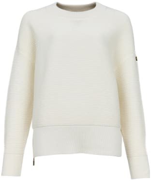 Women's Barbour International Delta Knit - Off White