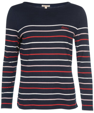 Women's Barbour Hawkins Stripe Top - Navy 2