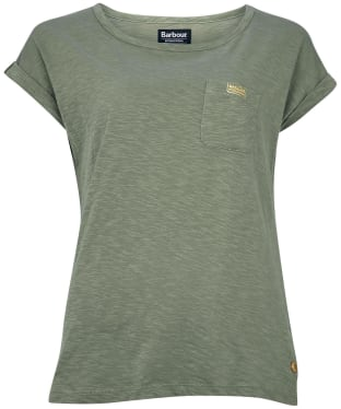 Women's Barbour International Qualify Top - Lt Army Green