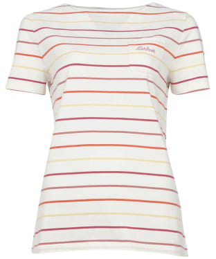 Women's Barbour S/S Bradley Top - Multi Stripe