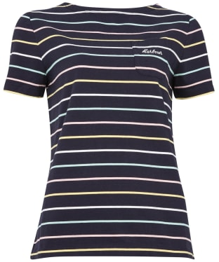 Women's Barbour S/S Bradley Top - Navy Stripe