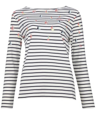 Women's Barbour Bradley Print Top - Off White Coast