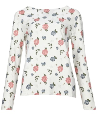 Women's Barbour Bradley Print Top - Off White Country