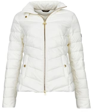 Women's Barbour International Aubern Quilted Jacket - Optic White