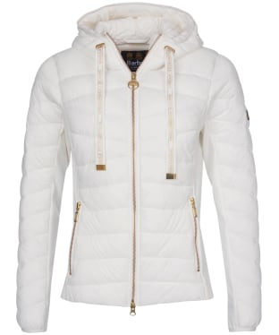 Women's Barbour International Grid Quilted Jacket - Optic White