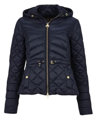 Women's Barbour International Drifting Quilted Jacket - Dark Navy