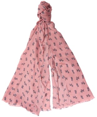 Women's Barbour Dog Print Wrap - Rose Tan