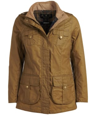 Women's Barbour Defence Lightweight Waxed Jacket - Sand