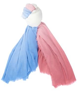 Women's Barbour Pier Dip Dye Wrap - Sherbet / Sky Blue