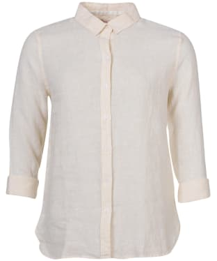 Women's Barbour Marine Shirt - Yellow Haze / White