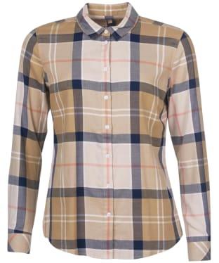 Women's Barbour Bredon Shirt - Olive Mist Tartan