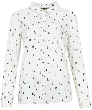 Women's Barbour Safari Shirt - Off White Coast