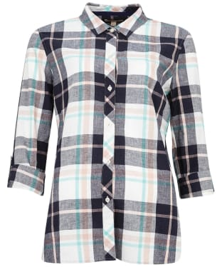 Women's Barbour Seaglow Shirt - Navy Check