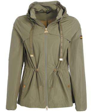 Women's Barbour International Rollcage Showerproof Jacket - Lt Army Green