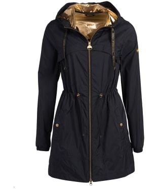 Women's Barbour International Gearbox Showerproof Jacket - Black