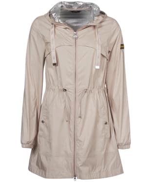 Women's Barbour International Gearbox Showerproof Jacket - Oyster