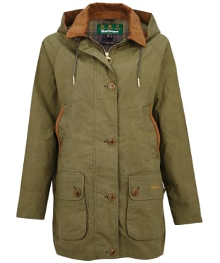 Women's Barbour Delevingne Showerproof Jacket - Olive