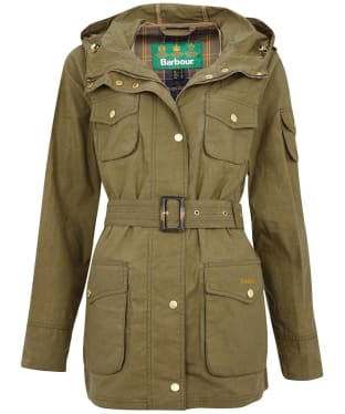Women's Barbuor Collins Showerproof Jacket - Olive