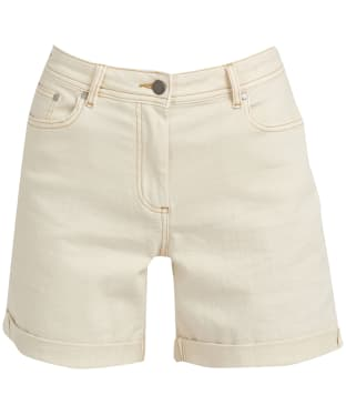 Women's Barbour Maddison Denim Shorts - Ecru