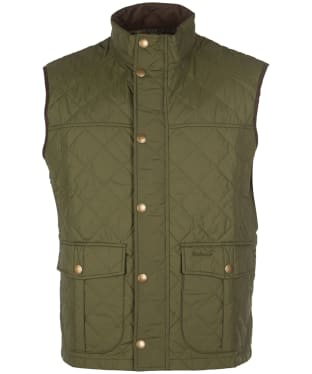 Men's Barbour Explorer Gilet - Mid Olive