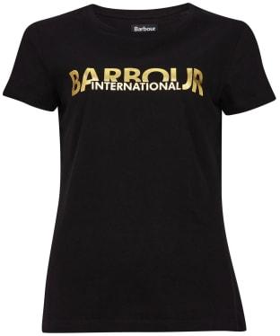 Women's Barbour International Delta Tee - Black