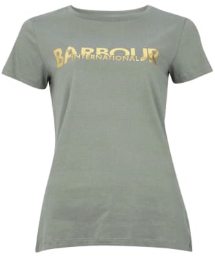 Women's Barbour International Delta Tee - Lt Army Green