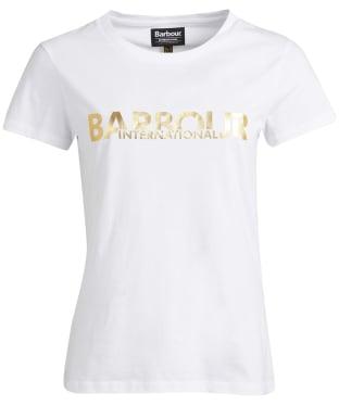 Women's Barbour International Delta Tee - White