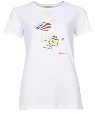 Women's Barbour Merseyside Tee - White