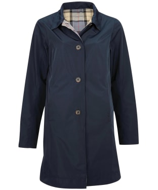 Women's Barbour x Sam Heughan Babbity Waterproof Jacket - Navy / Dress Tartan