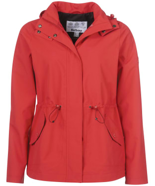 Women's Barbour Promenade Waterproof Jacket - Ocean Red