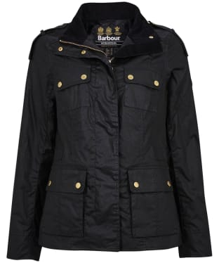 Women's Barbour International Delta Waxed Jacket - Black