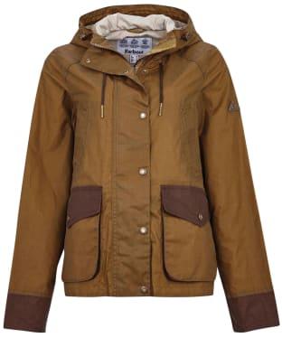 Women's Barbour Stonebarrow Waxed Cotton Jacket - Sand