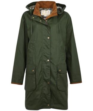 Women's Barbour Alexandra Waxed Cotton Jacket - Duffle Green