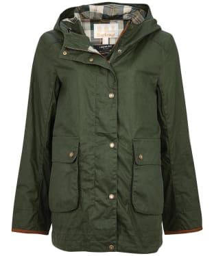 Women's Barbour Victoria Wax Jacket - Duffle Green